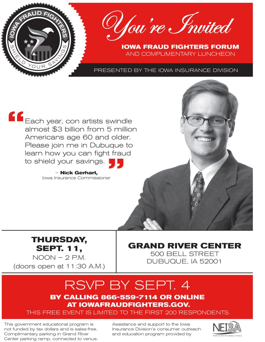 Iowa Fraud Fighters Forum Offered in Dubuque