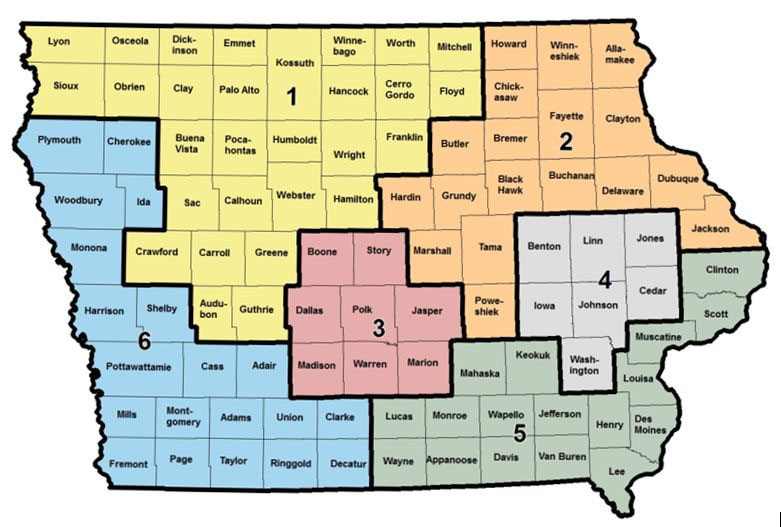 Related Agencies Northeast Iowa Area Agency On Aging - Map of iowa counties
